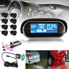 8pcs Parking Sensor W/ LCD Display Car Reverse Rear View Radar Alarm Kit