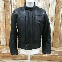 FURYGAN Black Genuine Leather Motorbike Jacket Mens Bikers Size UK XL 41154
