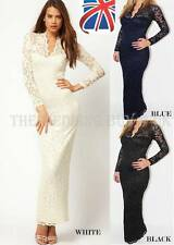 Lace V-Neck Party Long Sleeve Dresses for Women