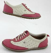 Born Womens Wingtip Style Shoes Dusty Rose Pink Cream Leather Sz 6.5
