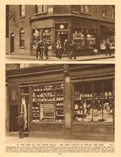 London pawnbrokers in Popular High Street and Bow 1926 old vintage print