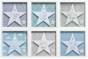 Said with Sentiment Frame with Star with Verse with Tag to Personalise Baby Gift