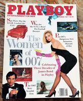 MINT Playboy Magazine September 1987 GEWN HAJEK John Scully WOMEN of 007 BOND