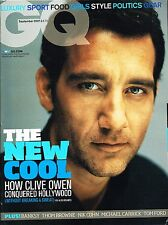 GQ UK September 2007 CLIVE OWEN Richard Branson BANKSY Thom Browne PIXAR