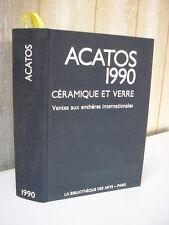 ACATOS 1990 céramique et verre, ventes aux enchères internationales