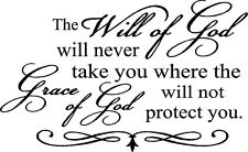 """THE WILL OF GOD Wall Art Decal Quote Words Lettering Vinyl Sticker Decor 36"""""""
