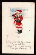 vintage Gibson Santa Claus on the telephone Christmas postcard