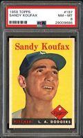 1958 Topps #187 Sandy Koufax - Dodgers HOF - PSA 8 NM-MT - 29009686 - (SCA)