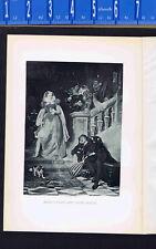 Mary Stuart Queen of Scots & David Rizzio-1895 Photogravure Print plus BONUS