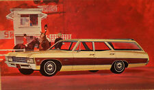 New Old Stock 1967 Chevrolet Caprice Dealers Promo Post Card Unused Litho in USA