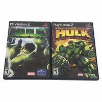 The Incredible Hulk: Ultimate Destruction & HULK (PlayStation 2) PS2 Black Label