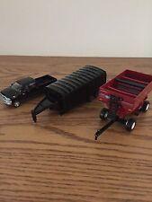 Dodge Ram Super Duty Truck,J&M Wagon and 5th Wheel Grain Trailer,1/64 scale Ertl