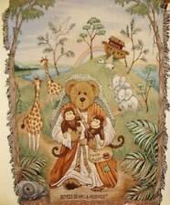 New Rare Boyds Bear Noahs Ark Tapestry Afghan Throw Blanket