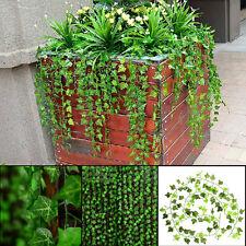 8.2feet Green Artificial Ivy Leaf Leave Garland Plants Vine Fake Foliage Home