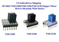 3D MKS TMC2208/TMC2100/TMC2130 Stepper Motor Driver+Heatsink With Sticker Reprap