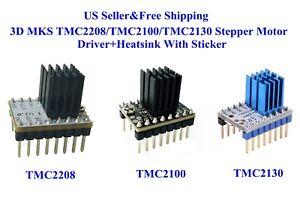 3D MKS TMC2208/TMC2100/TMC2130 Stepper Motor Driver+Heatsink With Sticker Reprap