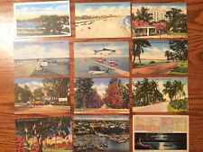Florida  Lot of 19 Linen Postcards 1940 -1950's and 14 Chrome cards - 50's -70's