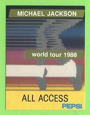 Michael Jackson-World Tour 1988-CONCERTO-SCATOLA-pass ORO-oggetto da collezione