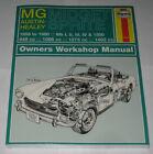 Repair Manual MG Midget + Austin-Healey, Model Years 1958 - 1980