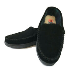 Polo Ralph Lauren Mens Sz 10 Moccasin Slippers Black Suede Pony Shoes