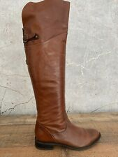 LADIES BROWN LEATHER DUNE OVER KNEE HIGH BOOTS UK 5 EU 38