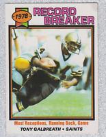 1979 TOPPS FOOTBALL TONY GALBREATH RECORD BREAKER #332