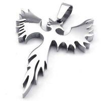 Pendiente de Firebird Fenix de acero inoxidable de joyeria con 50 cm cadena K9M8