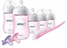 NEW Philips Avent Natural Baby Bottle Pink Gift Set SCD206/11 FREE SHIPPING
