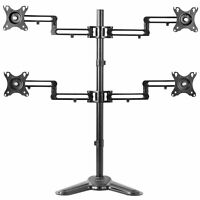 """Quad LCD Monitor Mount Fully Adjustable Desk Stand 