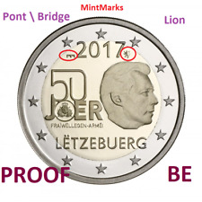 2 Euro Com Luxembourg 2017 BE  PROOF - Service Militaire Pont  Bridge et Lion