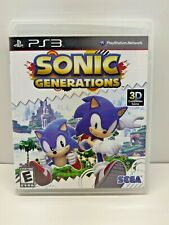 Sonic Generations (Sony PlayStation 3, 2011) Complete Game CIB - Tested