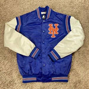New York Mets Starter Black Label MLB Bomber Jacket Size Small New**