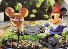 Mickey Mouse Disney Miniature Garden Statuaries Kit - Set of 4, New In Box