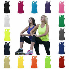 Womens Sports Gym Racer Back Running Vest Fitness Jogging Yoga Singlet Top