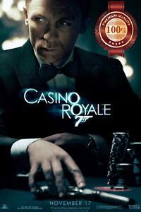 CASINO ROYALE 007 JAMES BOND FILM MOVIE ORIGINAL CINEMA PRINT PREMIUM POSTER