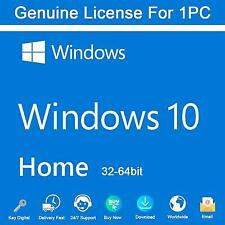 MIC Windows 10 Home 32/ 64bit Genuine License Key Product Code 100% FULL SUPPORT