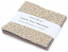 """Count Your Blessings Moda Charm Pack 42 100% Cotton Fabric 5"""" Quilt Squares"""