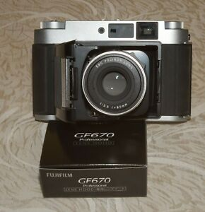 Fuji Fujifilm GF670 Professional 6x6 6x7 camera New in Box + GF670 Shade Mint -