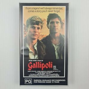 Peter Weir's Gallipoli VHS Tape - Mel Gibson - Mark Lee - TRACKED POSTAGE