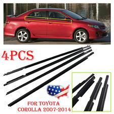 For 2009-2012 Toyota Corolla 4pcs Weather strip Window Moulding Trim Seal Belt