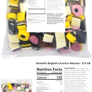 Gustaf's English Licorice Allsorts - 2.5 LB Standard Packaging