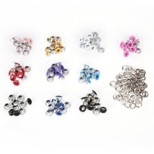 100x 4mm Scrapbook-Loch zufällige gemischte Farbe Metal Eyelets DIY Kleidung;B