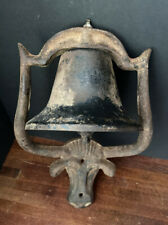LONGHORN STEER BULL Western Bell Door Knocker Cast Iron Vintage