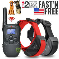 Dog Training Collar With Remote Waterproof 1000 Yard Pet Shock Collar For 2 Dogs