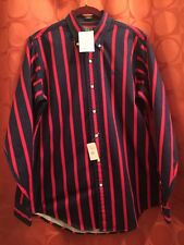 Youth Xl Adult M Polo Vintage 80s Nwt Cotton Navy Red Stripe Shirt Lord & Taylor