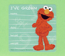 10 Elmo I've Grown - Height and Weight - Large Stickers - Sesame Street