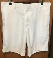 Walter Hagen Mens Chino Golf Shorts Sz. 35 White Polyester Flat Front Casual EUC