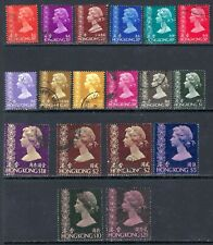 HONG KONG 1973-81 QEII Used Issues Selection - Watermark? (May 217)