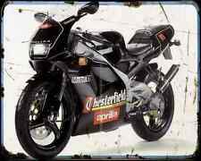 Aprilia Rs 125 Extrema Chesterfield Replica 94 A4 Metal Sign Motorbike Vintage
