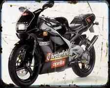 Aprilia Rs 125 Extrema Chesterfield Replica 94 A4 Metal Sign Motorbike Vintage